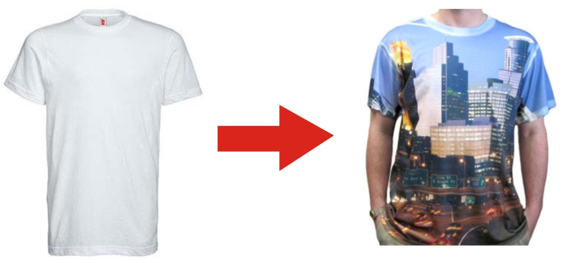 Exciting decorating technique transforms appearance of for All over dye sublimation t shirt printing
